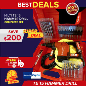 Hilti Te 15 Hammer Drill W Wood Chuck Adapter Great Condition Free Extras
