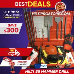 Hilti Te 56 Hammer Drill Preowned Made In Germany Free Bits Extras fast Ship