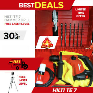 Hilti Te 7 Rotary Hammer Drill Brand New Free Laser Level Drill Bits