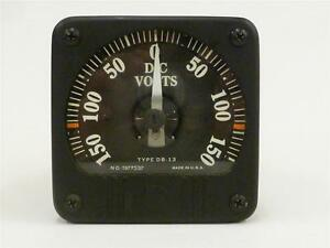 Vintage General Electric Voltmeter 150 Vdc Model 8db 13vcr3 Ge W extra