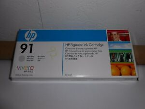 Genuine Oem Hp 91 C9466a Designjet Z6100 Light Gray Ink Cartridge