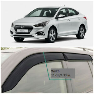 He25617 Window Visors Vent Wide Deflectors For Hyundai Accent Solaris 2017