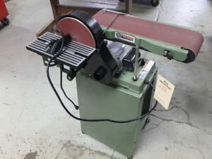 6in x 9in Combination Belt Disc Sander Intricate Shaping Wood Floor Stand Miter