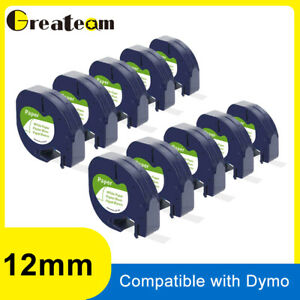 10 Dymo 91330 91200 Compatible For Letratag Label Tape Cassette Cartridge 12mm