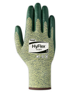 Ansell Hyflex 11511 Foam Nitrile Palm Coated Gloves Size 10 12 Pair