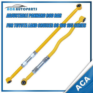 One Pair Adjustable Panhard Rod Bar Fit Toyota Land Cruiser 80 100 105 Series