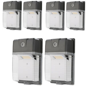 6 Pack 30w Led Wall Pack 5000k Ip65 Waterproof 3300lm Dusk To Dawn 100 277v Ac