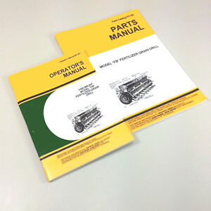 Operators Parts Manuals For John Deere Van Brunt Fb 157 15x7 Grain Drill Owners