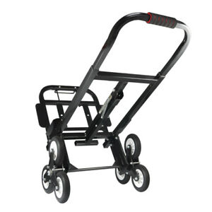 Black 440lbs Heavy Duty Stair Climber Hand Truck Dolly Roll Cart Trolley