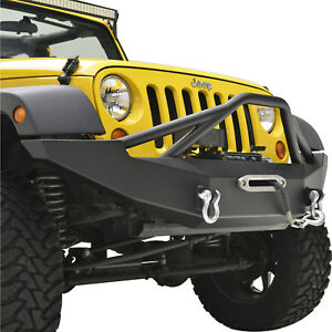 07 18 Jeep Wrangler Jk Full Width Front Bumper With Winch Plate And D Rings
