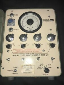 Northeast Electronics Corp Model Tts 77 Relay Current Test Set Untested