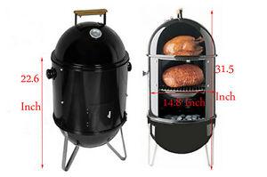 New Charcoal Smoke Grill Bbq Charcoal Wood Outdoor Patio Smoker Cooker Unit Chip