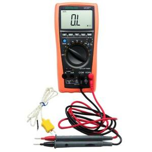 Aidetek Lcd Vc97 Auto Range Digital Multimeter Needle Tipped Tip Test Tlp20157