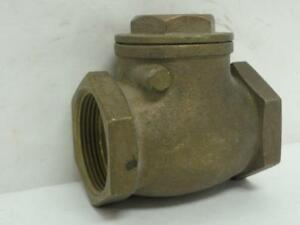 154608 Old stock Industry Standard 10f305 Swing Check Valve Bronze 1 1 2 Fnp