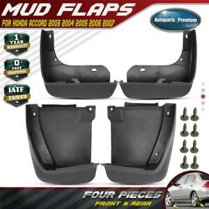 New 4pcs Front And Rear Splash Guards Mud Flaps For Honda Accord 2003 2006 2007