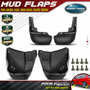 New 4pcs Front And Rear Splash Guards Mud Flaps For Honda Civic 1996 1999 2000