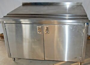 Stainless Steel Restaurant Kitchen Work Table With Built In Cabinets 51 X 40