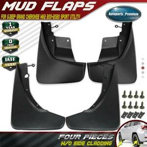 4x Splash Guards Mud Flaps Front Rear For Jeep Grand Cherokee Wk2 2011 2016