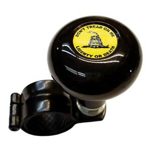 Black Steering Wheel Suicide Spinner Handle Knob Truck Car Don T Tread On Me Y