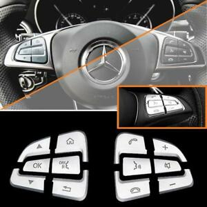 1set Steering Wheel Button Covers Trim For Mercedes A B C Class Cls Gla Gle Gls