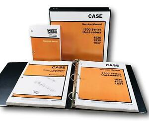 Case 1500 1526 1530 1537 Uni loader Skid Steer Service Parts Operators Manual