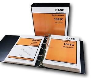 Case 1845c Uni Loader Skid Steer Service Manual Parts Catalog Repair Shop Ovhl