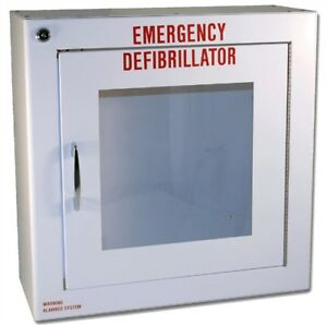 Modern Metal Large Alarmed Basic Aed Cabinet 17in X 17in