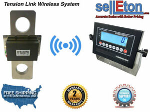 50 000 Lbs X 10 Lb Tension Link Wireless Hanging Crane Scale Overhead Load Cell