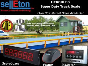 Truck Scale 100 X 10 Ft Truck Scale 220 000 Lb Steel Deck Ntep Approved