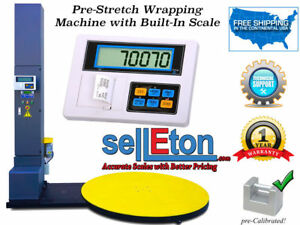 Wrapping Machine Pallet Wrapper Automatic Scale 5 000 Lb Stretch Wrapper Scale