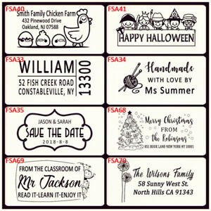 Personalized Return Address Self Ink Rubber Stamp Christmas Gift Card Handmade