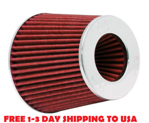K n 3 To 4 Round Tapered Universal Air Intake Cone Filter Chrome Car truck suv