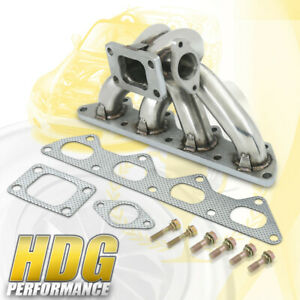 T3 Turbo Charger Exhaust Manifold 88 99 Mitsubishi Eclipse Eagle Talon 4g63 Dsm