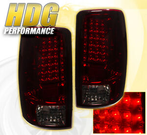 2000 2006 Chevy Tahoe Replacement Led Brake Stop Tail Lights Lamps Smoke Red