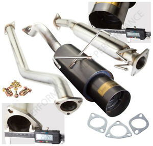 02 06 Acura Rsx Type s 2 0l Dc5 Jdm Gunmetal 4 5 Tip Catback Exhaust System