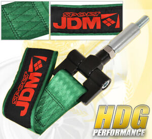 Fit Nissan 350z 04 07 Front Bumper Towing Strap Hook Green Threaded Adapter