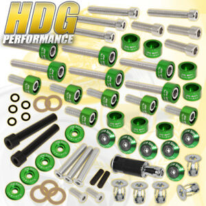 D15 D16 Engine Cup header cam Cap m8 Fender valve Cover Bolts washers green