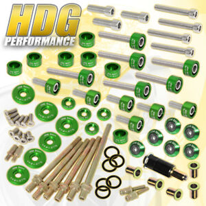 K20 K24 Honda Cup header cam Cap m6 Drivet Fender valve Cover Washer bolt green