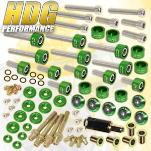 B16 B18 Honda Cup header cam Cap m8 Drivet Fender valve Cover Washer bolt green