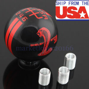 For Ford Mustang Shelby Gt 500 6 Speed Stick Gear Shift Knob Lever Shifter Mt