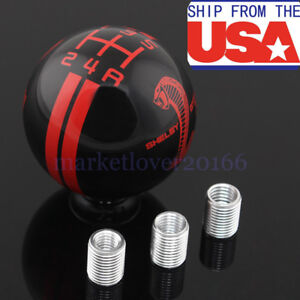 For Ford Mustang Gt500 Black Manual Car Gear Shift Knob Shifter Refit 5 Speed