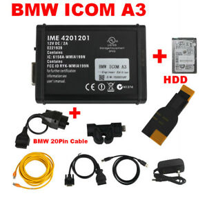V2019 09 Hdd Bmw Icom A3 Obd2 Auto Diagnostic Scanner With Bmw 20pin Connector