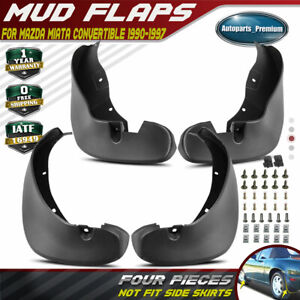 New 4pcs Front And Rear Splash Guards Mud Flaps For Mazda Miata 1990 1996 1997