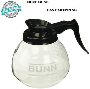 Bunn O Matic 12 Cup 64 Oz Glass Coffee Pot Decanter Drip Proof Black Nsf Gift