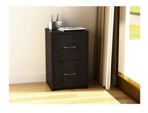 File Cabinet Organizer Wood 2 drawer Legal Storage Black Home Office Furniture