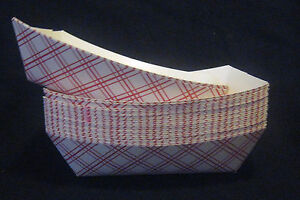 25 Food Trays 2 Lbs Baskets Boats Printed Paper Cardboard Concessions Parties