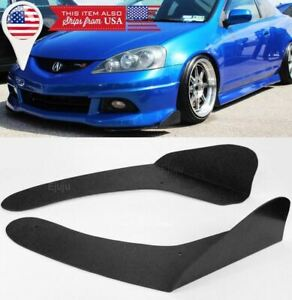 Black Front Bumper Lip Splitters Spoiler Winglet Blade Valances For Vw Porsche