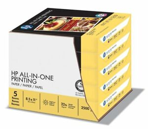 Printing Papers 8 5 X 11 Ch 22lbs 96 Bright 2500 Sheets 5 Reams Case 207000c