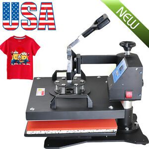 8in1 Digital Transfer Heat Press Machine Sublimation Diy T shirt Mug Plate Cup