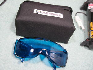Glendale Laser Safety Glasses Goggles For Hene 632 8nm Red multi Helium Neon Lab